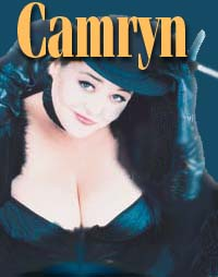 A beautiful image of Camryn wearing a hat and LOTS of cleavage. Yay! Originally from the cover of GIRLFRIEND magazine.
